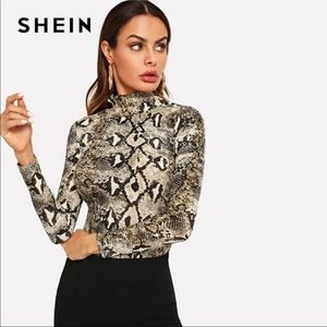 056f61b5f1b SHEIN Tops | New Snake Print Top Size L Long Sleeve | Poshmark